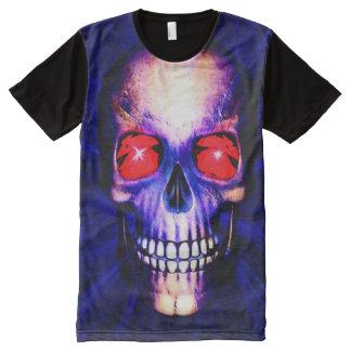 Blue skull All-Over print T-Shirt