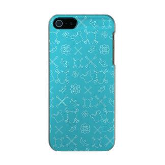 Blue Skull and Bones pattern Incipio Feather® Shine iPhone 5 Case