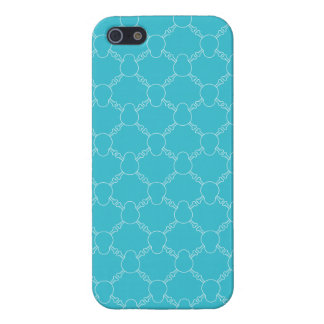 Blue Skull and Bones pattern iPhone 5/5S Case