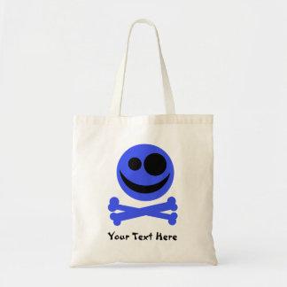 Blue Skull and Crossbones. Bags