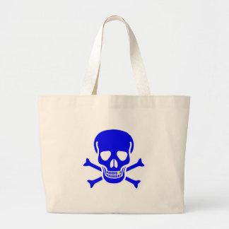 Blue Skull And Crossbones Canvas Bag
