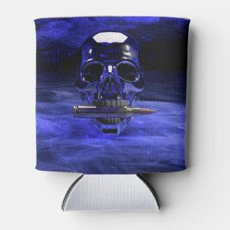 Blue Skull Can Cooler