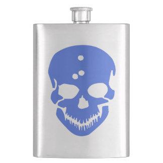 blue skull head flask