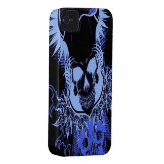 Blue Skull iPhone 4/4s Mate ID case iPhone 4 Case