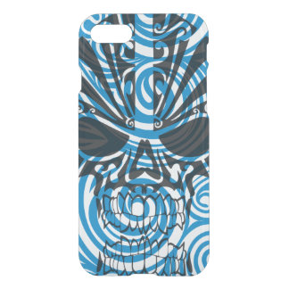 Blue skull on abstract background for iPhone 7 iPhone 7 Case