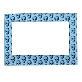 Blue Skull Pattern. Magnetic Frames