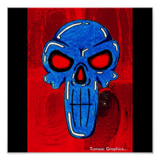 BLUE SKULL - Tomsac Graphics - Customized Poster