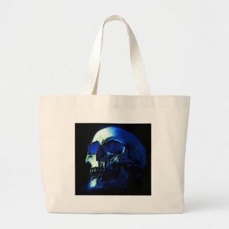Blue Skull Tragetasche