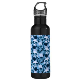 Blue Skulls 710 Ml Water Bottle