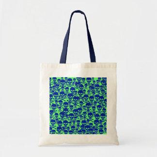 Blue Skulls Canvas Bags