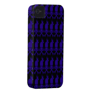 Blue Skulls iPhone 4/4s Mate ID Case