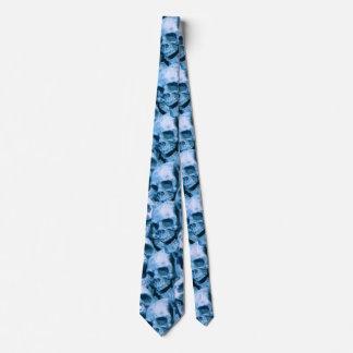 Blue Skulls Tie
