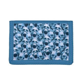 Blue Skulls Tri-fold Wallets