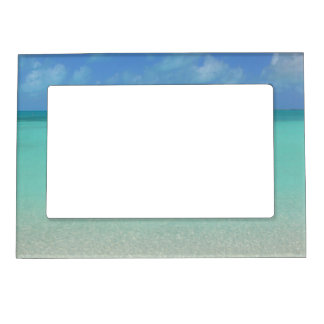 """BLUE SKY AND AQUAMARINE CARIBBEAN WATER"" MAGNETIC MAGNETIC PICTURE FRAME"