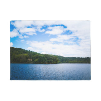 Blue Sky and Calm Waters in Spring Doormat