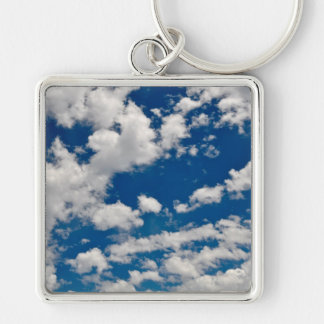 Blue Sky and Clouds Key Ring