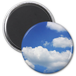 Blue sky and clouds magnet