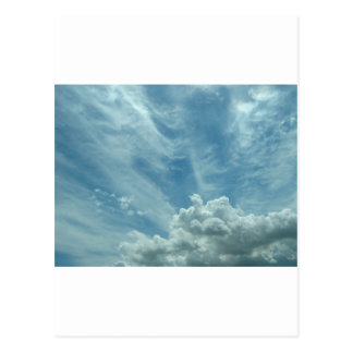 Blue sky and clouds post card