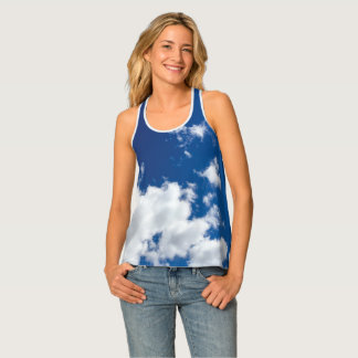 Blue Sky and Clouds Singlet