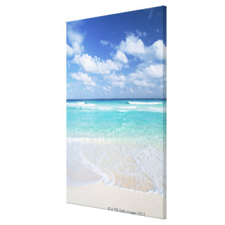 Blue sky and sea 15 canvas print