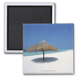 Blue sky and sea 16 square magnet