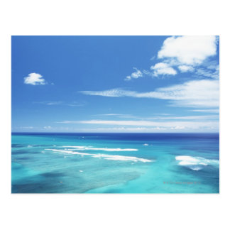 Blue sky and sea 17 postcard