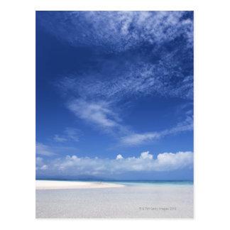 Blue sky and sea 2 postcard