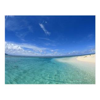 Blue sky and sea 6 postcard