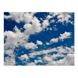 Blue Sky and White Cloud Background Postcard