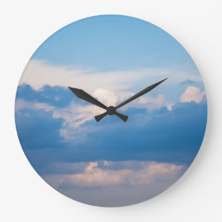 Blue Sky and White Clouds - Cloud Background Clocks