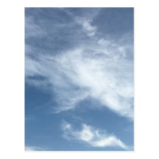 Blue Sky and  White Clouds Postcard