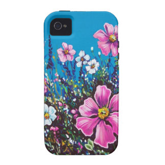 blue sky and wildflowers iPhone 4 cover