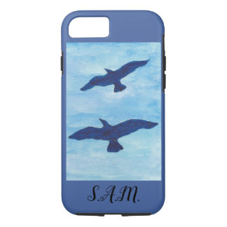 Blue Sky Birds Flying iPhone 8/7 Case
