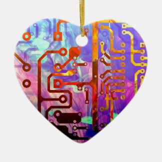Blue Sky Ceramic Heart Decoration