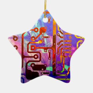 Blue Sky Ceramic Star Decoration