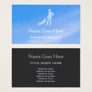 """""""Blue Sky"""" Cleaning Business Cards"""