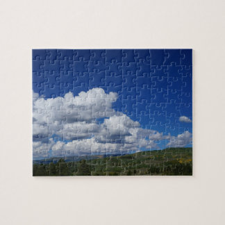 Blue Sky, cloud and mountains Jigsaw Puzzle
