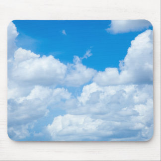 Blue Sky Clouds Background Skies Heaven Design Mouse Pad