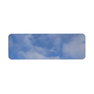 Blue Sky Clouds Return Address Label