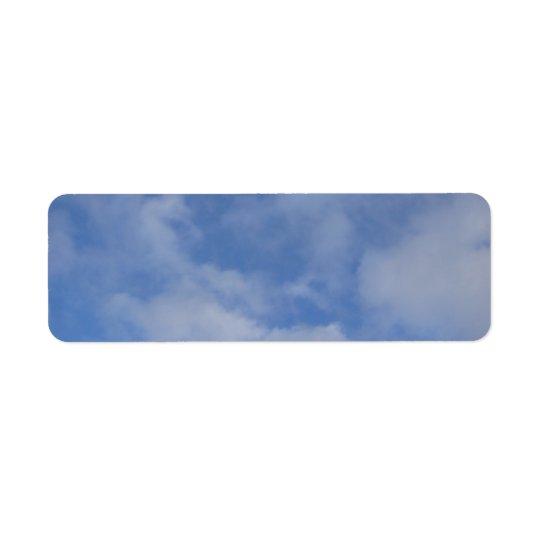 Blue Sky Clouds Return Address Label