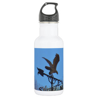 Blue sky, Eagle and Arrow Weather vane 532 Ml Water Bottle