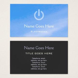 """Blue Sky"" Electrician Business Cards"