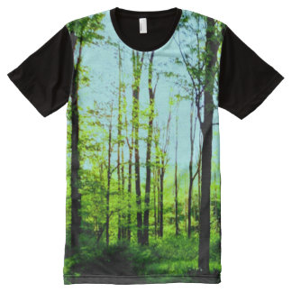 Blue Sky Forest All Over Print T Shirt All-Over Print T-Shirt