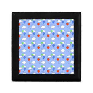 blue sky, free balloons small square gift box
