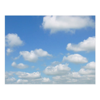Blue Sky Fresh Air Clouds Postcard