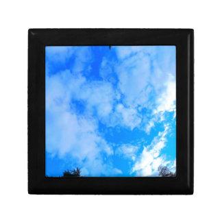 blue sky. gift box