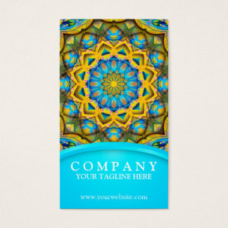 Blue Sky Golden Cornfield mandala - blue