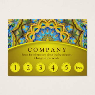 Blue Sky Golden Cornfield Mandala Loyalty Card