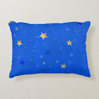Blue Sky Golden Stars Accent Cushion