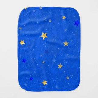 Blue Sky Golden Stars Burp Cloth